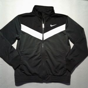 Nike Jacket Boys Full Zipper Track Black White